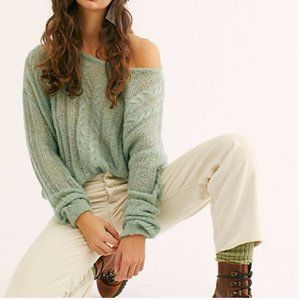 NWT Free People Angel Soft Pullover Sweater - Mint